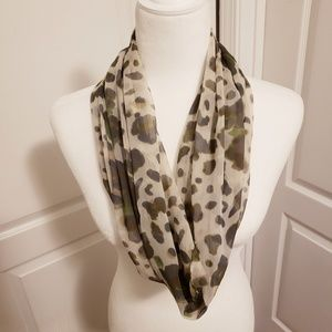 Charming Charlie leopard print infinity scarf